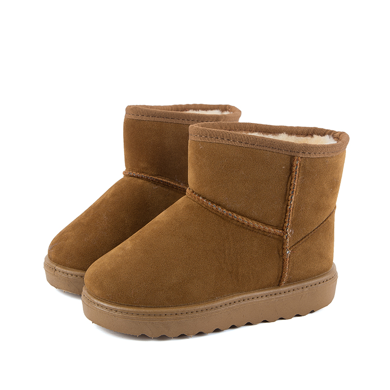 2017 New Kids Winter Boots Synthetic Pu Upper and Warm Kids Shoes Convenient Boys and Girls Boots for Eur Size 25#-35#