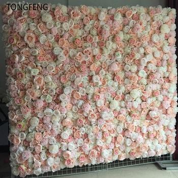 TONGFENG 8 sztuk partia MIXCOLOR ślub 3D kwiat ściany kwiat biegacz ślub sztuczny jedwab róża piwonia ślub tło dekoracji tanie i dobre opinie CN (pochodzenie) HQ-366-7 Sztuczne Kwiaty Kwiat Głowy Ślub Jedwabiu Rose peony Flower wall Wedding decoration 60cm*40cm