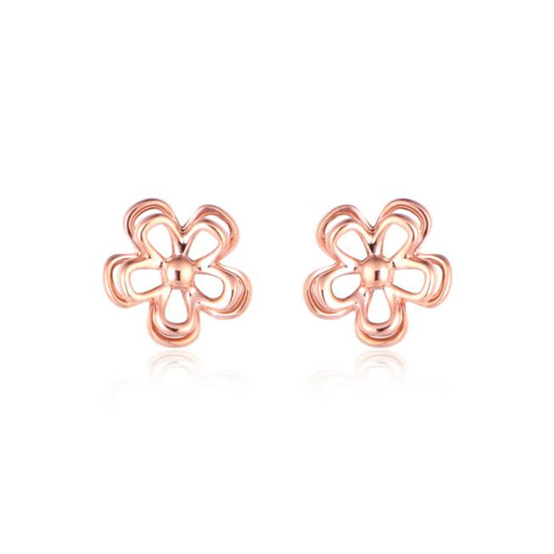 2018 18K Gold Korean Fashion Earrings Small Daisy Flowers Senior Flower Stud Earrings Female Jewelry Wholesale 0.50g wholesale trendy 18k gold earrings bijoux fashion small bead stud earrings for women fine jewelry brincos