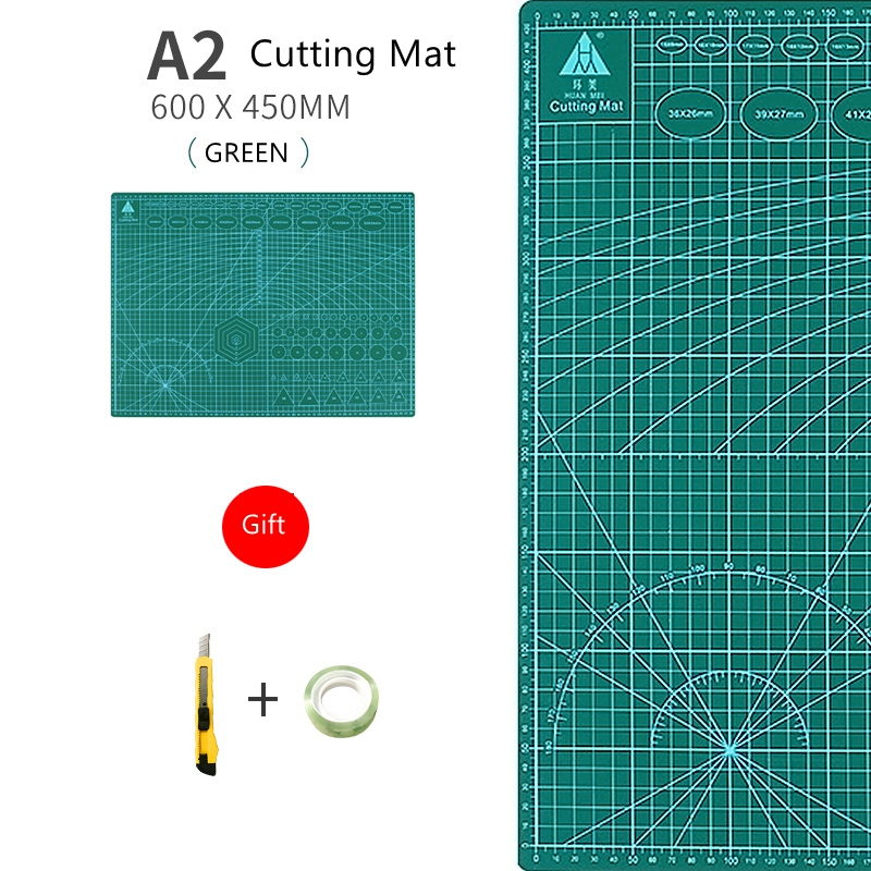 A2 Cutting Mat A2 PVC Multipurpose Self Healing Cutting Mats DIY Tool Cutting Board Double-sided Durable Paper Mat