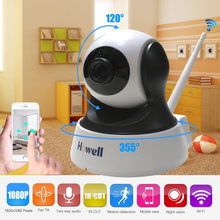 Howell IP Wireless Camera HD 1080P Wifi Wireless Security Camera with Night Vision Ethernet Port Home Security MIni IP Camera