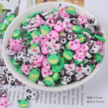20g/pack Cartoon Animal Soft Clay Slime Accessories Polymer Clay Charms DIY Fingernail Art Supplies Glue for Slices Slime Filler(China)