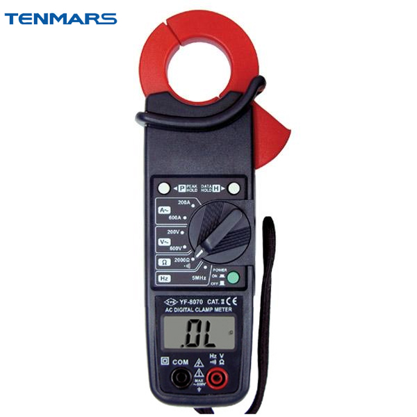 TENMARS YF8070 600V 3-1/2 Digit LCD with Maximum Reading of 2000 AC Clamp Meter tm 204 light meter with 3 1 2 digits lcd with maximum reading 2000