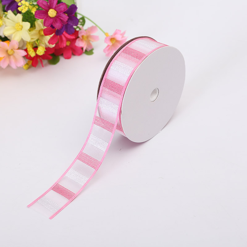 New Technology Satin Ribbon 2 5cm Width Horizontal Thick Stripe Party Decoration Random Match Fashion Ribbon Supplies Material in Ribbons from Home Garden