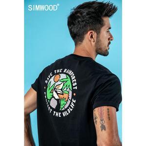 Image 3 - SIMWOOD 2020 חולצות גברים אופנה מותג Streetwear מקרית Slim הדפסת קריקטורה חולצות זכר כותנה קיץ Tees camiseta homme 190112