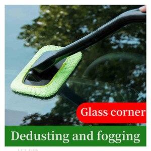 Image 2 - 1 pçs destacável 13 polegada janela escova de microfibra limpador limpeza escova com almofada de pano do carro ferramenta limpeza automática escova