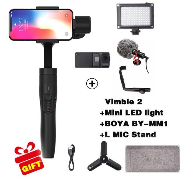 Feiyutech Vimble 2 3-Axes De Poche Smartphone Cardan Stabilisateur pour xiaomi samsung iphone gopro hero yi 4 k sjcam action caméras