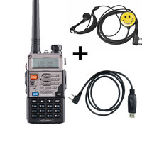 "uv 5r Baofeng UV-5RE VHF 10 ק""מ Talkie Walkie UHF 136-174Mhz & 400-520Mhz Dual Band שני הדרך רדיו UV-5R סדרה Portable משדר רדיו (1)"