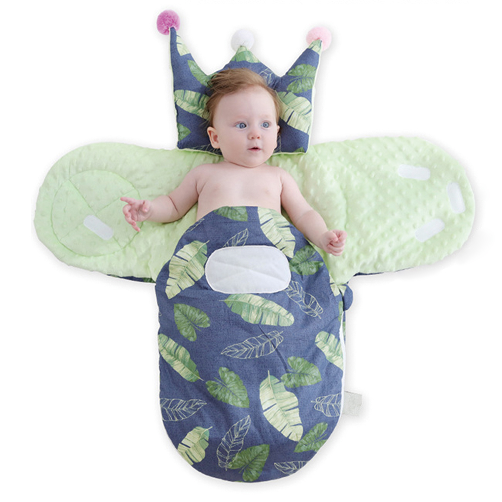 Baby Sleeping Bag Baby Cocoon Leaves Pattern Blanket Envelope Carriage Sack Envelopes For Newborns Diaper Cocoon For Newborns