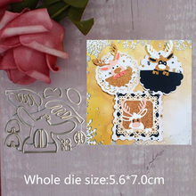 Deer Animal cute Cutting Dies Scrapbooking Metal Embossing Stamps and die for Card Making photo album 5.6*7.0 cm
