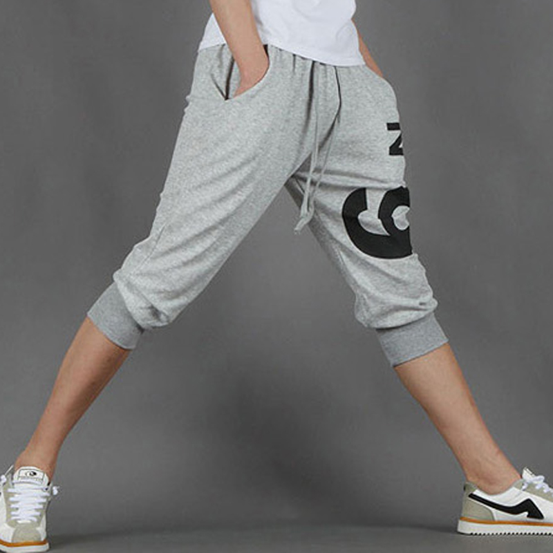 Fashion 2020 Summer Youth School Students Boy Capri Print Number Sport Running Jogging Fitnss Men's Harem Calf Length Pants