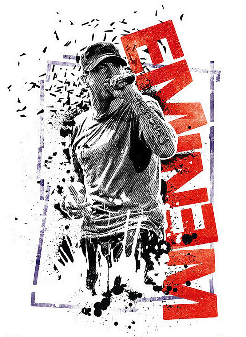 Eminem wallpaper reviews online shopping eminem for Eminem wall mural