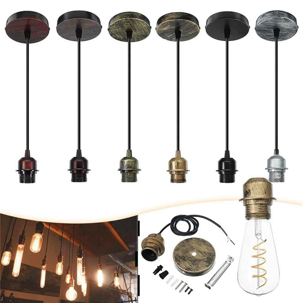 Smuxi E27 Fabric Flex Ceiling Light Romantic Pendant Lamp Holder Fitting Lighting Decoration Craft Chandelier AC110-220V