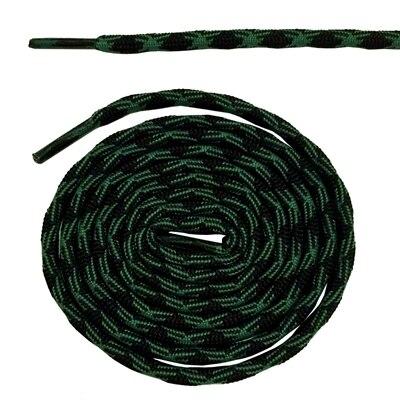 Нескользящие круглые шнурки для альпинизма разные цвета 120 см/47 дюймов - Цвет: Dark green and black