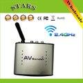 Hot 2.4G remetente De Áudio e Vídeo AV Transmissor Sem Fio & Receptor de Sinal de TV receiver IR Extender Remoto 3 RCA PAT220, frete Grátis