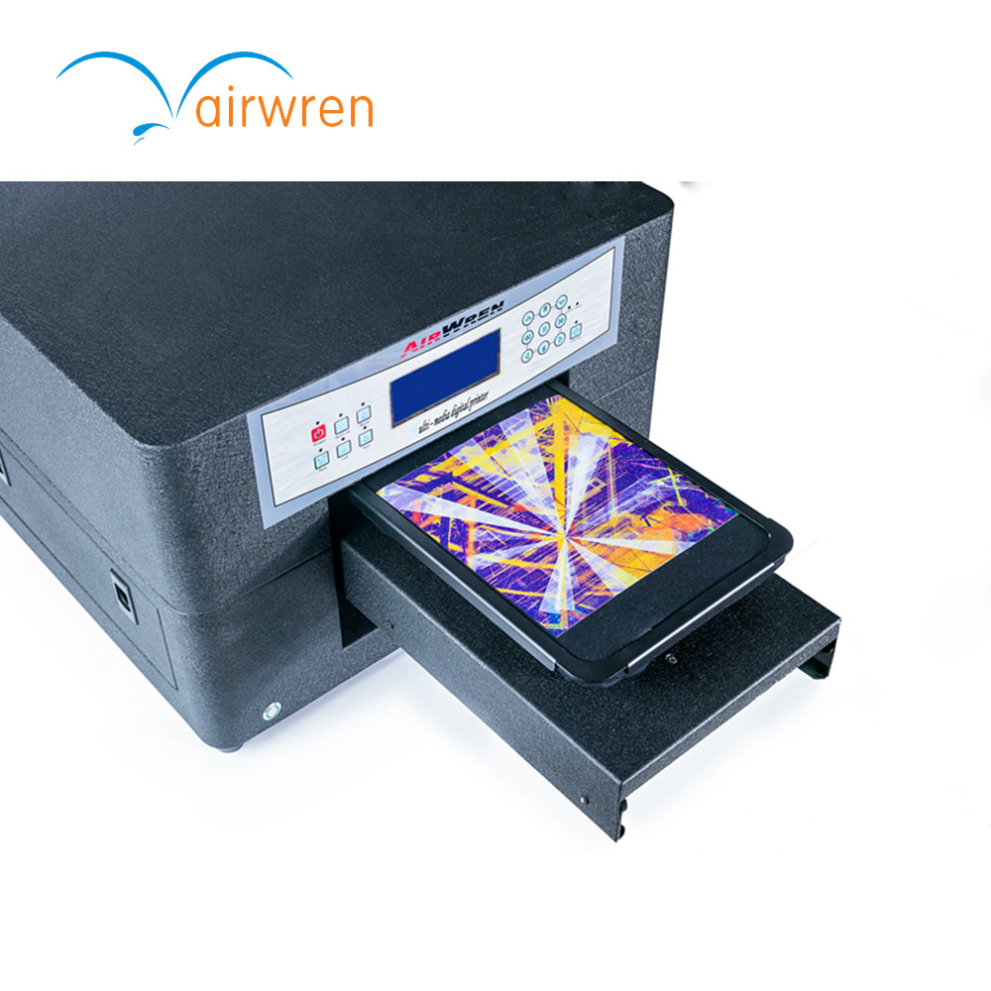 Low Cost A4 Digital Flatbed T-shirt Printer With 6 Color For Different Countries Selling
