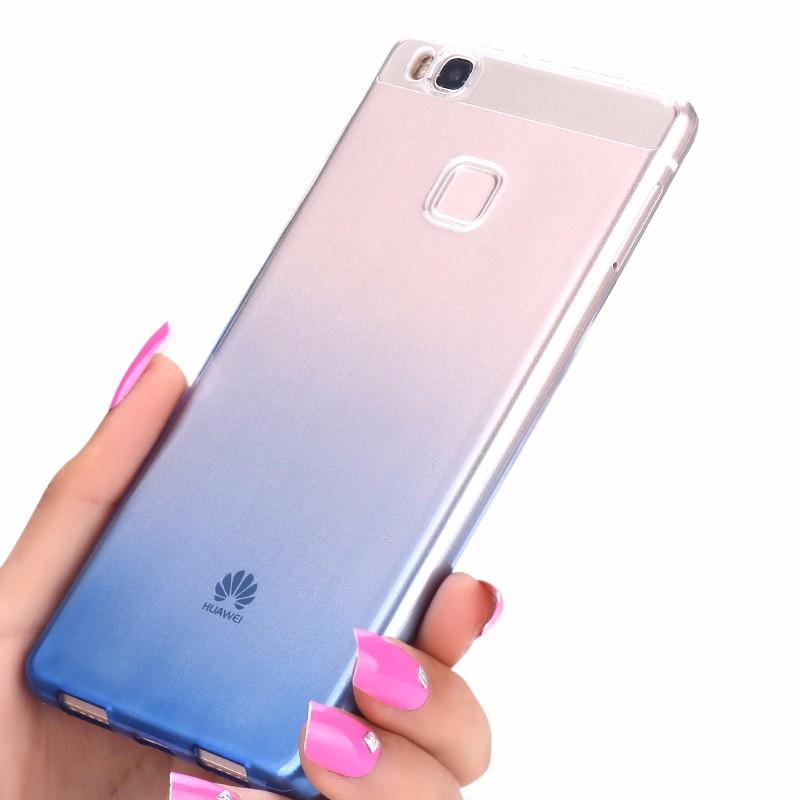 Ultra-cienki przezroczysty miękka tpu case dla huawei p8 p9 plus p8 lite krzemu gradientu telefon ochronna pokrywa dla huawei p9 Shell 1