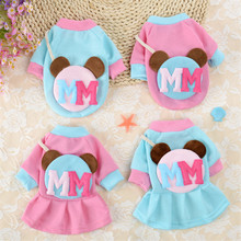 New Dog Clothes for Small Dogs Spring Dog Coat Jacket Clothing Puppy Cartoon Pet Clothes Dress for Chihuahua Clothes leisure cartoon chihuahua dog clothes for puppy overalls 2019 spring dog clothes for small dogs coats jackets puppies clothing
