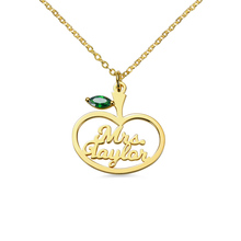 AILIN Gold-Color Stethoscope Necklace Personalized Name Birthstone Pendant Newest Nurse Medical
