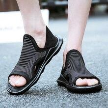 2017 Fashion high quality men sandals shoes superstar brand footwear male summer designer shoes black men casual shoes rubber