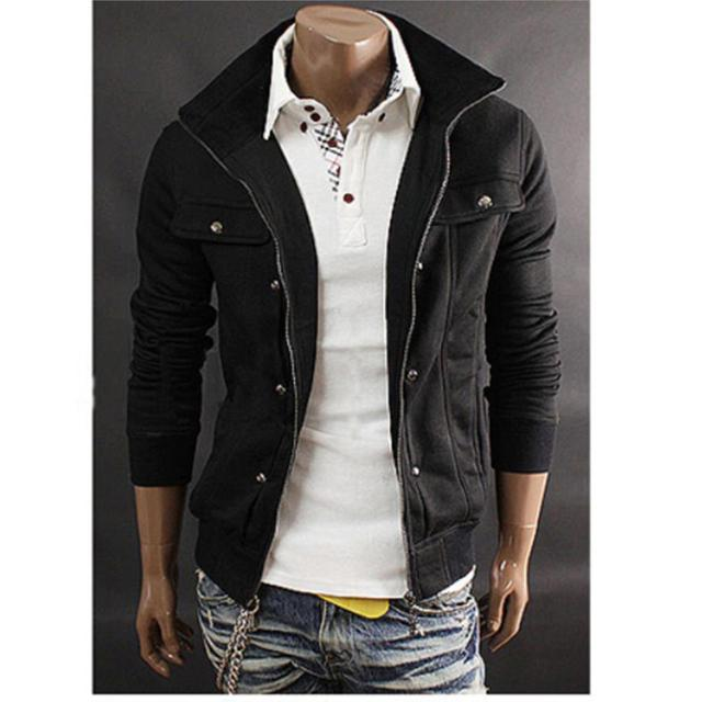 hot sale Men's Hoodie Slim Cotton Winter Fleece Warm Jacket Coat Outwear Sweatshirt Cardigan US Size