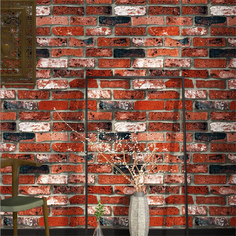 Beibehang Brick Wallpaper Brick Vintage Bar Fake Brick 3d Wallpaper TV Background Room Wallpaper for walls 3 d papel de parede beibehang brick wallpaper brick brick retro retro gray cement brick wall industrial wind background wall paper papel de parede