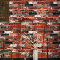 Beibehang Brick Wallpaper Brick Vintage Bar Fake Brick 3d Wallpaper TV Background Room Wallpaper For Walls