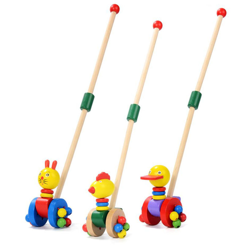 Creativo Per Bambini Di Legno Di Puzzle Trolley Fumetto Dei Capretti Animali Auto Giocattoli Per Bambini Divertente Di Legno Di Puzzle Trolley Carrello Giocattoli Di Legno Spingere Giocattolo