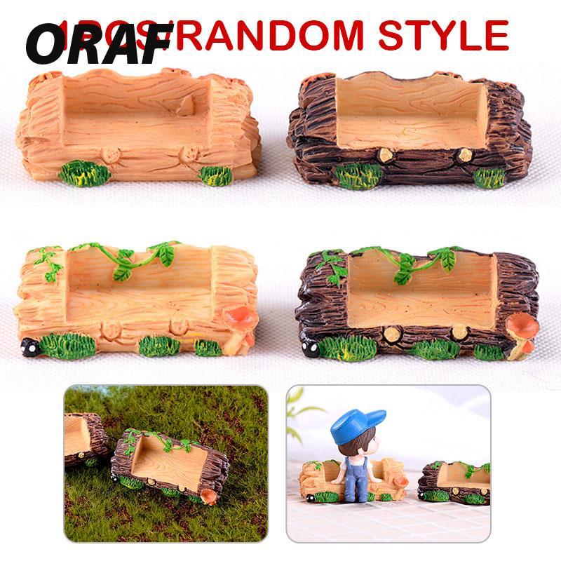 Miniature Wooden Bench Mini Ornament Emulation Resin Figurine Fairy Garden Micro Landscape Home Decoration Drop shipping
