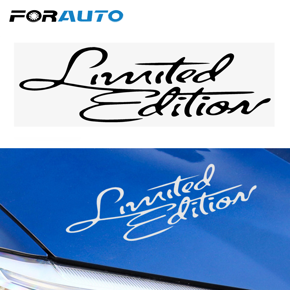 FORAUTO Auto Stickers Decal Badge Limited Edition for Car Body Window Motorcycle Decoration Car Styling image