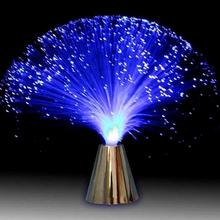 Çok renkli LED Fiber optik ışık gece lambası tatil noel düğün ev dekorasyon Nighting aydınlatma lambaları