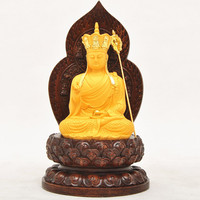 The new resin Buddha handicraft earth treasure bodhisattva One of the four big Buddha sitting room buddhist temple offerings