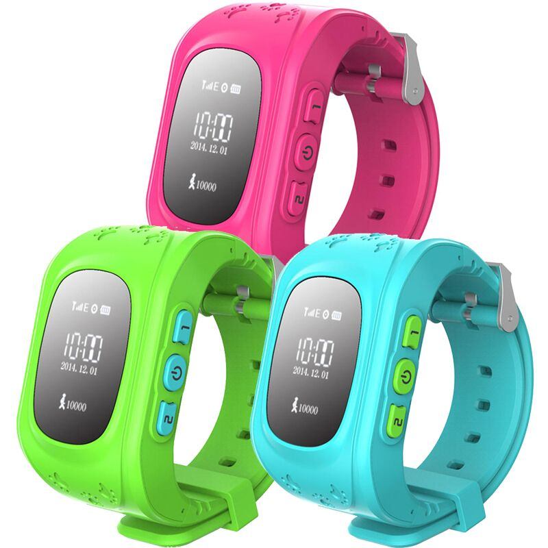 MOCRUX Kids Watches Q50 SOS Call GSM GPRS GPS Smart Baby Watch Track Watch Location Tracker Smart Watch for Child Boys Girls