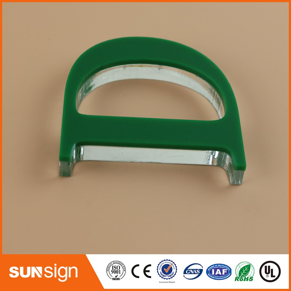 advertising green plexiglass letters sign board plastic signs