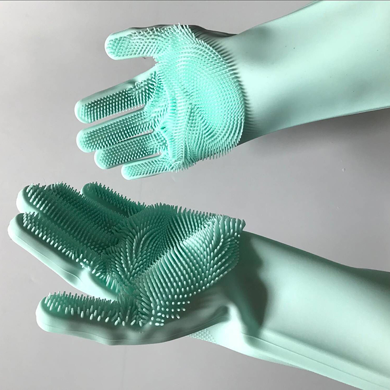 1 Pair Magic Silicone Rubber, Silicone Rubber Dish Washing Gloves, Silicone Rubber Dish Washing Gloves For Kitchen, Washing Gloves For Kitchen, Gloves For Kitchen, Silicone Gloves For Kitchen, Washing Gloves,