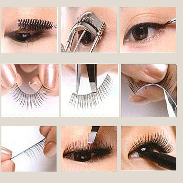 10Pair False Eyelashes Natural Reusable Sparse Cross Long Eyelashes Artificial Fake Eye Lashes Makeup Fake Eye Lashes Extensions 5