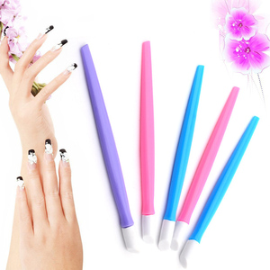 HOT Sale 1 Pc Nails Cuticle Pusher Deadskin Remover Sent at Random Color For Nail Art Care Manicures Nail Tools