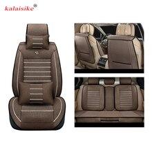 Kalaisike Лен универсальные чехлы сидений автомобиля для Geely Emgrand EC7 X7 FE1 Тюнинг автомобилей аксессуары для интерьера авто Подушки