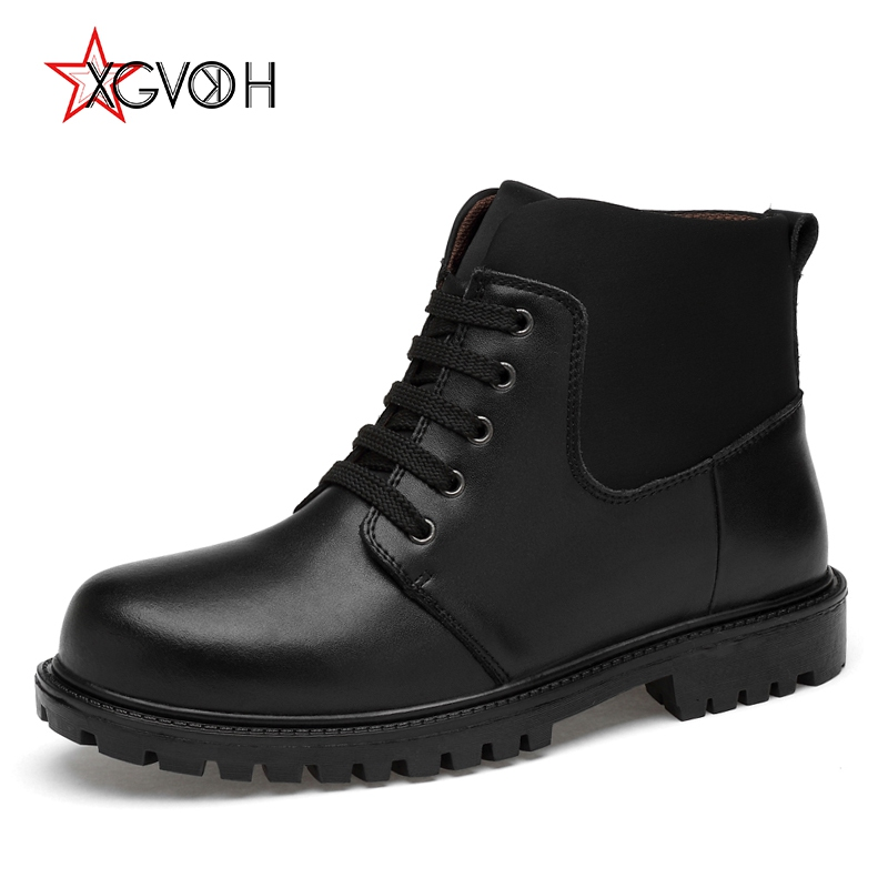 Men Boots Genuine Leather Winter Warm Fur Male Plus Size Snow Ankle Boots for Mens Casual Shoes Sneakers Walking Rubber Footwear mens shoes warm fur boots men casual shoes male genuine leather zapatos winter snow boots zapatillas hombre plus size 38 50