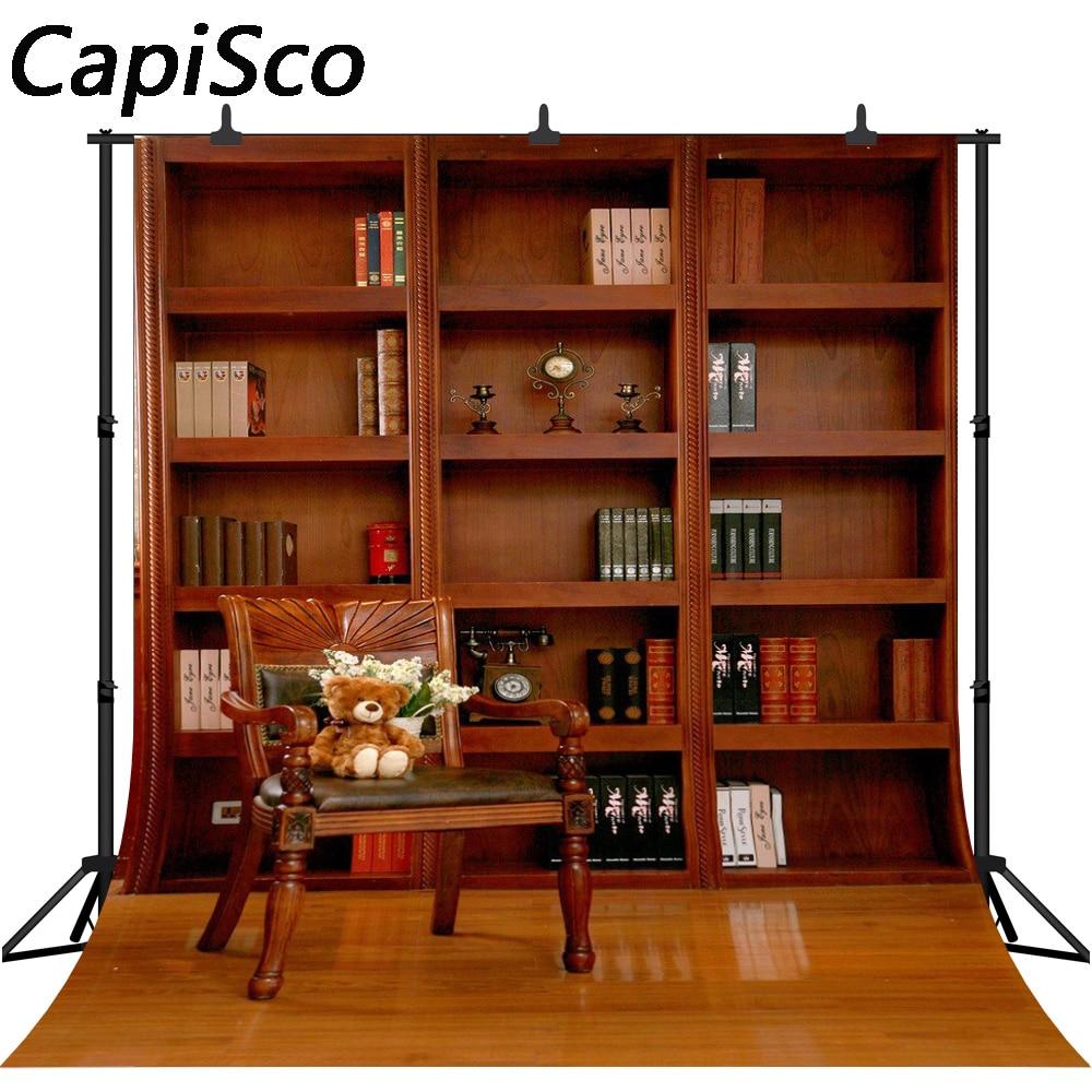 study backgrounds bookshelf chair backdrops bench studio zoom background capisco photographic customized electronics