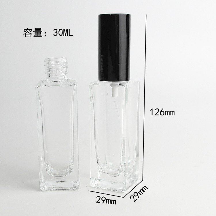 цена на 30ml Transparent Glass Refillable Packaging Bottles refillable perfume spray bottle atomizer perfume bottle