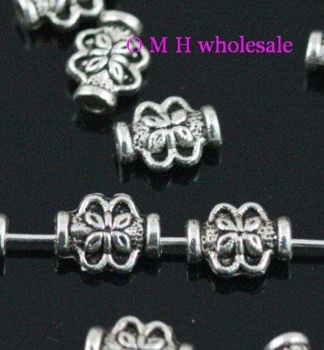OMH wholesale Free ship 30pcs tibetan silver spacer beads Jewelry Findings metal beads 8X3mm ZL131