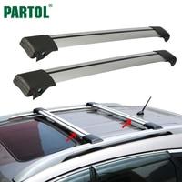 Partol 2Pcs Car Roof Rack Cross Bar Lock Anti Theft SUV Top 150LBS 68KG Aluminum Cargo