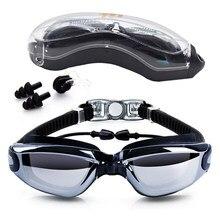 59e77d2fcbb08 Das mulheres Dos Homens À Prova D  Água Anti Nevoeiro Natação Óculos De  Proteção Com Caixa de Proteção UV Surf Profissional de N..
