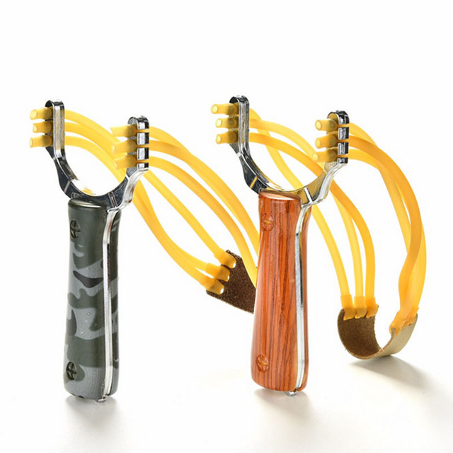 Popular Powerful SlingShot Super strong pull Slingshot Camouflage Bow Catapult Outdoor Hunting Slingshot Hunting Bow Accessories