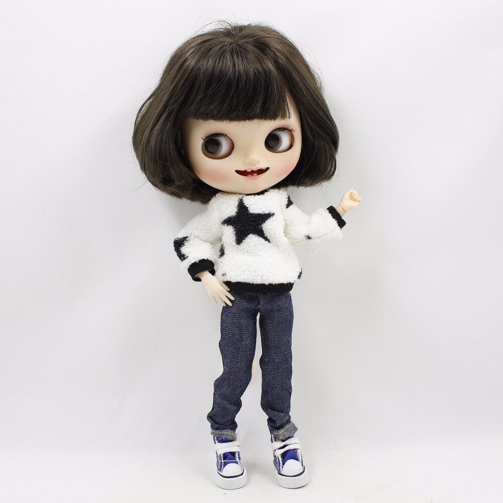 Neo Blythe Doll Plush Clothes Jeans Suit 4