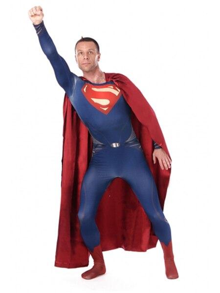 男の鋼スパンデックススーパーマン衣装スーパーマンコスチュームコスプレハロウィン衣装  グループ上の ノベルティ & 特殊用途 からの 映画 & テレビ衣装 の中 1