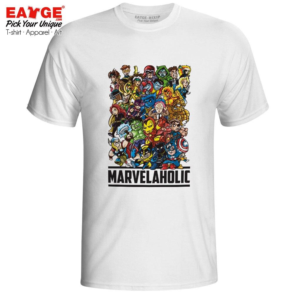 I Am A Marvelaholic T Shirt Marvelous Superhero Avengers Endgame X Men Super Hero End Game T-shirt Novelty Rare Design EATGE Tee