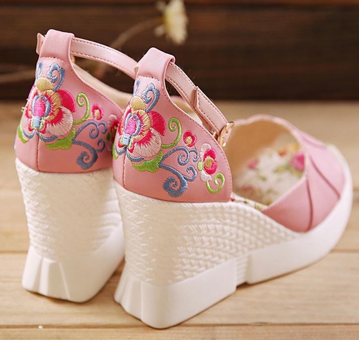 Fashion women wedges platform shoes casual high heels shoes Summer peep toe Sandals Ankle Strap women pumps cloth shoes phyanic 2017 gladiator sandals gold silver shoes woman summer platform wedges glitters creepers casual women shoes phy3323