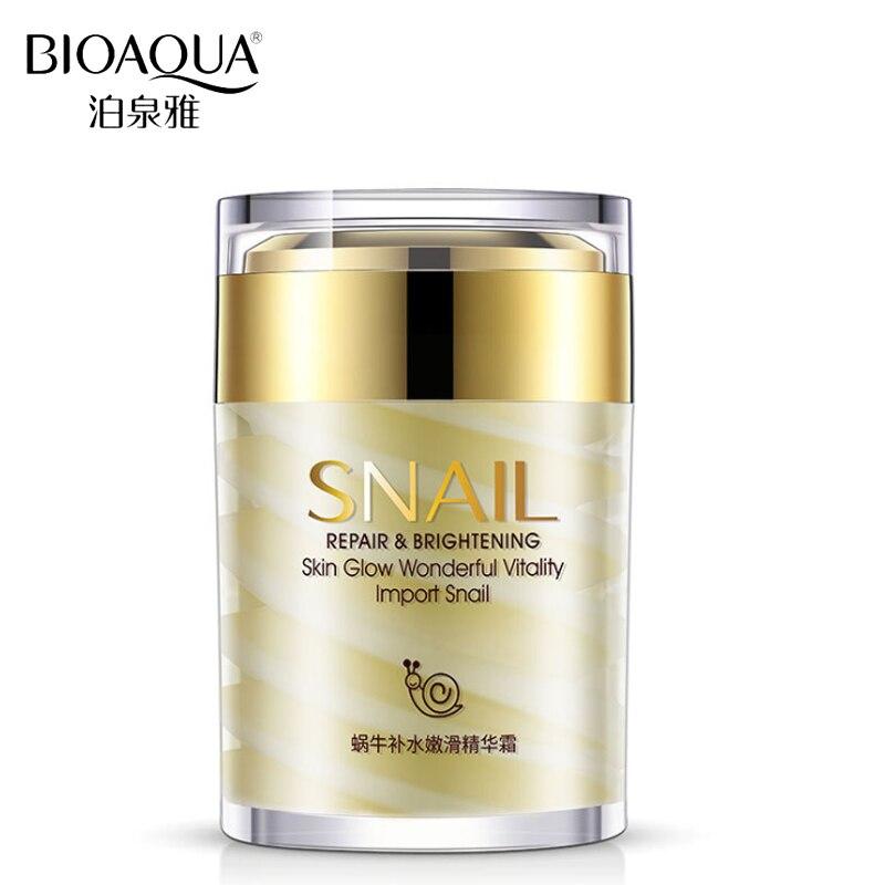 BIOAQUA Brand Snail Essence Face Cream Collagen Moisturizer Facial Skin Care Ageless Anti Winkles Whitening Day and Night Creams bioaqua snail whitening